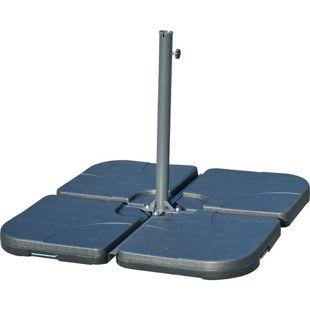 Outsunny Behälter für Bodenkreuz von Sonnenschirmständern schwarz | Sonnenschirmständer Schirmständer Schirmfuß