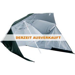 Outsunny Strandschirm und Strandzelt 2 in 1 dunkelgrün, weiß 210 x 222 cm (ØxH) | Gartenschirm Sonnenschirm Strandmuschel
