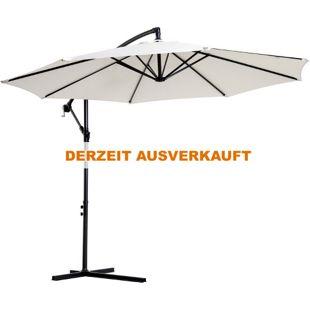 Outsunny Ampelschirm mit Handkurbel 3 x 2,5 m (ØxH) | Sonnenschirm Kurbelschirm Terrassenschirm Schirm