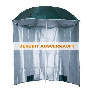 Outsunny Sonnenschirm mit Seitenwand grün 2,2 x 2,2 m (ØxH) | Strandschirm Sonnenschutz Gartenschrim Windschutz