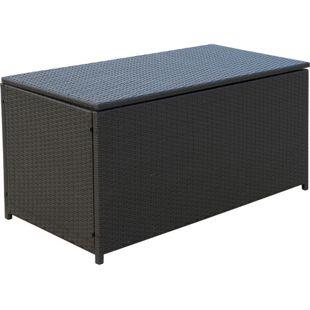 Outsunny Polyrattan Auflagenbox dunkelbraun 118 x 54 x 59 cm (LxBxH)   Kissenbox Gartenbox Gartenmöbel Rattanmöbel