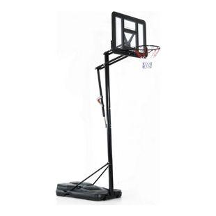 HOMCOM Mobiler Basketballständer höhenverstellbar transparent, schwarz 110 x 230 x 293-368 cm (LxBxH) | Basketballkorb mit Ständer Ständer mit Standfuß