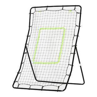 HOMCOM Fußball Rebounder schwarz 80 x 90 x 140 cm (LxBxH) | Trainingstor Torprallwand Rückpralltor Ballspiel