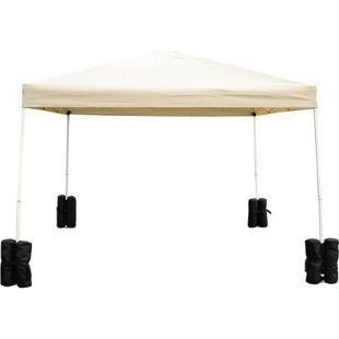 Outsunny Standfuß für Faltpavillon schwarz 14 x 42 cm (ØxH)   Standfüße Zeltgewichte Standfußgewicht Gewichte