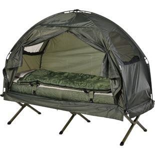 Outsunny Campingbett 4 in 1 Set dunkelgrün 193 x 78 x 118 cm   Feldbett 4in1 Camping Set Komplettset Zeltliege