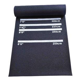 HOMCOM Dartmatte für Steel- und Softdart schwarz 300 x 61 x 0,3 cm (LxBxH) | Gummimatte Bodenmatte Matte Teppich Steeldart