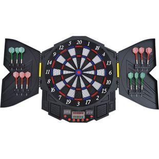 HOMCOM Elektronische Dartscheibe inklusive 12 Pfeile schwarz, weiß, blau, rot 49 x 5,5 x 54,6 cm (BxTxH) | Dartboard Dartscheibe Dartpfeile Spiel Board