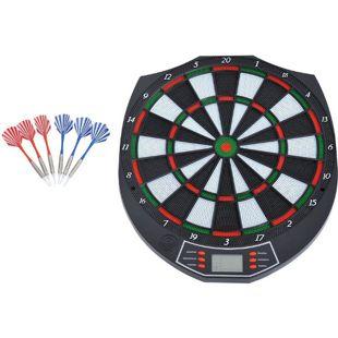 HOMCOM Elektronische Dartscheibe inklusive 6 Pfeile schwarz, weiß, grün, rot 37,8 x 2 x 43,1 cm (BxTxH) | Dartboard Dartscheibe Dartpfeile Spiel Board