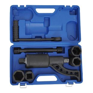 HOMCOM Drehmomentverstärker als 8-teiliges Set blau, schwarz ca. 40 x 23 x 12 cm (LxBxH) | Drehmomentvervielfältiger LKW Drehmomentschlüssel