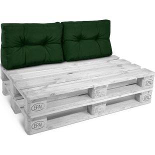 Palettenkissen ECO Style Rücken 2... Dunkelgrün, 60x40x10/20 cm