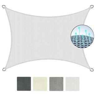 SolVision HDPE Sonnensegel HS9... Weiß, 300x200 cm