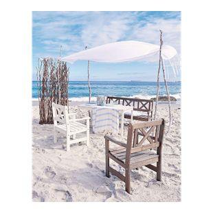 Outdoor-Stuhl-Set, 2-tlg. Landhaus Weiß