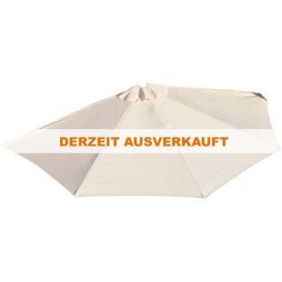 Sonnenschirm halbrund, für Balkone oder Terrassen, beige