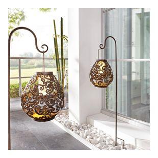 Solarleuchte mit Rank-Ornamenten, hängend