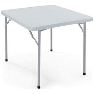 Faltbarer Tisch aus Kunststoff, klein, grau