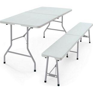 Faltbarer Tisch aus Kunststoff, grau