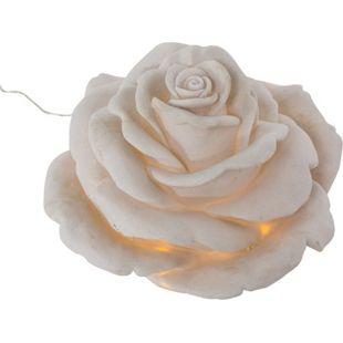 LED Gartenleuchte Rose, weiß