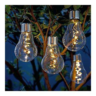Solarleuchte, 2-tgl. Glühbirne mit Clip