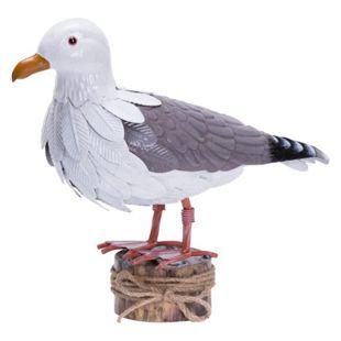 Deko-Figur Möwe Weiß/Grau