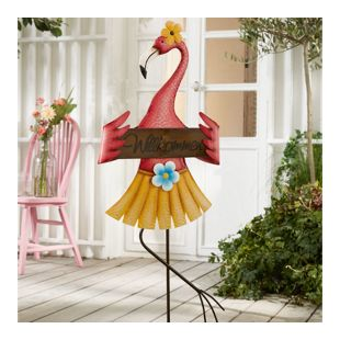 Gartenstecker Flamingo