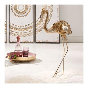 Deko-Figur Flamingo Glam Silberfarben/Goldfarben