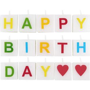 BUTLERS LOVE LETTERS Kerze Happy Birthday 15 tlg.