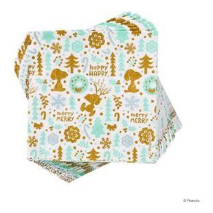BUTLERS PEANUTS Papierserviette Snoopy Happy Merry