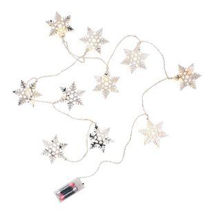 BUTLERS POLAR LIGHTS Lichterkette Kristall 10 Lichter