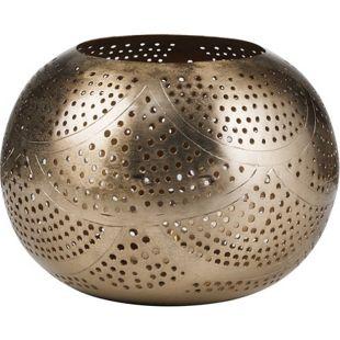 BUTLERS ARABIAN NIGHTS Teelichthalter Wellen Ø 15,5 cm