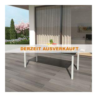 Alu Gartentisch 190x87cm Anthrazit Esstisch Terrassentisch Gartenmöbel Glasplatte Balkontisch Tisch