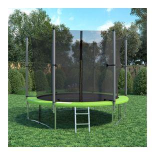 XXL Trampolin Gartentrampolin 305cm Komplettset mit Netz innenliegend + Leiter