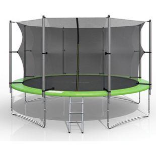 XXL Trampolin Gartentrampolin 366cm Komplettset mit Netz innenliegend + Leiter