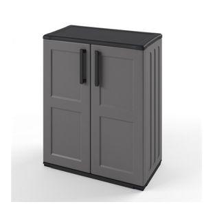Kunststoffschrank Werkzeugschrank Haushaltsschrank Kunststoff Grau 84x68 cm