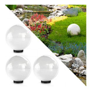 3er Set Kugelleuchte Lichtkugel Kugellampe Gartenleuchte Gartenlampe 30cm