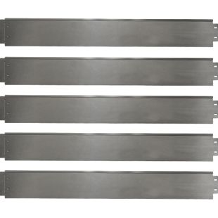 Rasenkante 15m 100x18cm verzinkt Beeteinfassung Beetumrandung Mähkante Metall Palisade