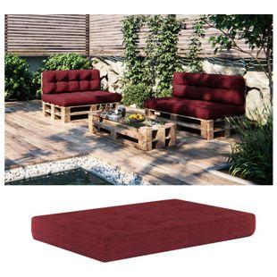 Vicco Palettenkissen Sitzkissen Palettenmöbel 15 cm hoch Rot