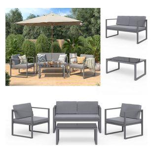 Sitzgruppe Set Tisch Gartengarnitur Gartenset Sitzgarnitur Aluminium