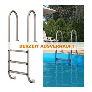 Poolleiter Einbauleiter 3 Stufen Schwimmbadleiter V2A Edelstahl Pool Einstieg