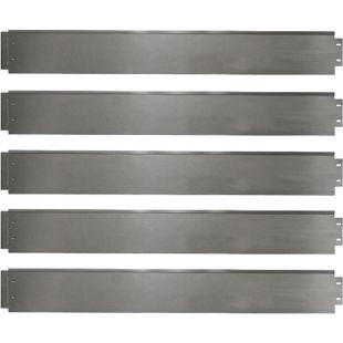 Rasenkante 5m 100x14cm verzinkt Beeteinfassung Beetumrandung Mähkante Metall Palisade