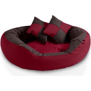 BedDog 4in1 Hundebett SABA, großes Hundekörbchen, abwischbar Hundekissen... L (ca. 65x50cm), SULTAN (rot/braun)