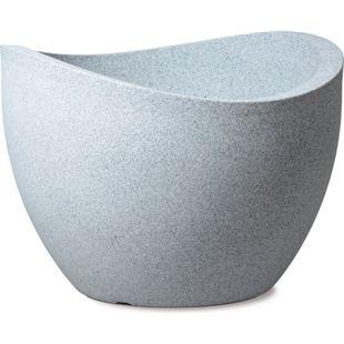 Scheurich Kunststoff Umtopf Wave Globe, weiß-granitfarben, 30 cm ( 8 Liter Inhalt )