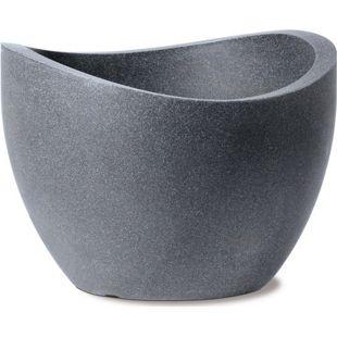 Scheurich Kunststoff Umtopf Wave Globe, schwarz-granitfarben, 40cm  ( 19 Liter Inhalt )