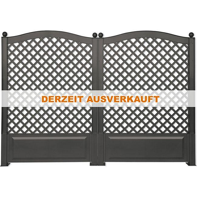 khw khw 2er set rank und sichtschutz spalier 140 cm hoch 2x100 cm breit anthrazitfarben. Black Bedroom Furniture Sets. Home Design Ideas