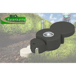 Dominik Gartenparadies Beeteinfassung Bio Rasenkante mit Solar LED 1 Stück anthrazit