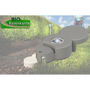 Dominik Gartenparadies Bio Rasenkante mit Solar LED 1 Stück granitgrau