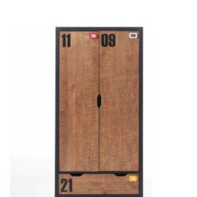 Vipack Kleiderschrank 2-trg. Alex Kiefer gebürstet
