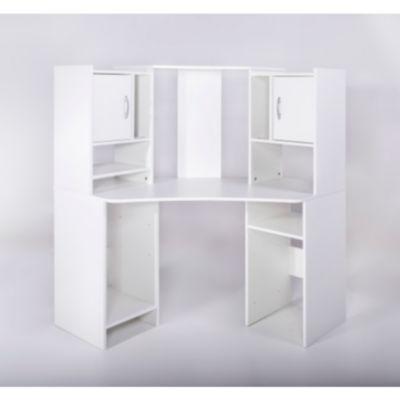 Eckschreibtisch weiß mit aufsatz  Eckschreibtisch Weiß Holz | afdecker.com