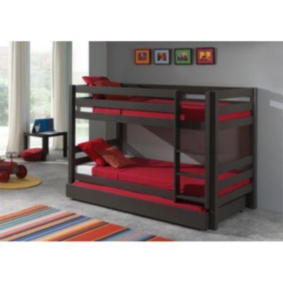 Vipack Furniture Etagenbett Pino mit Bettschublade, taupe