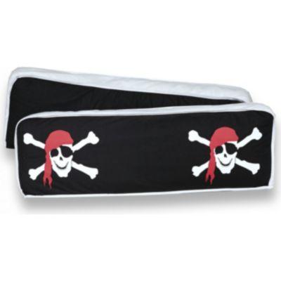 Ticaa Rückenkissen 2er Sets - Pirat schwarz/weiss