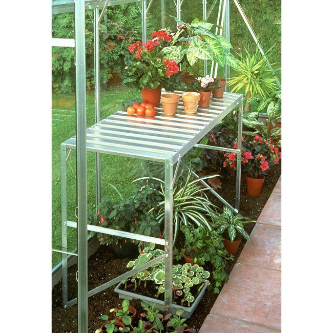 Vitavia Aluminium-Tisch eloxiert, 1 Ablagefläche - Bild 1